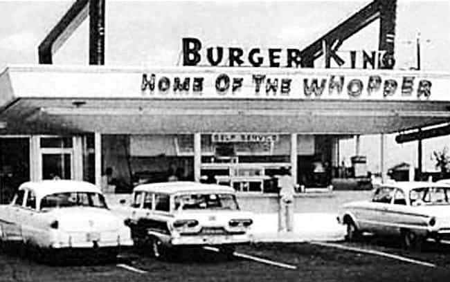 Burger King is listed (or ranked) 3 on the list Amazing Early Photos of the World's Most Iconic Companies