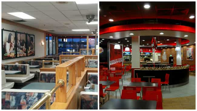 Burger King is listed (or ranked) 4 on the list Look: Every Fast Food Restaurant Looked Better in the '90s