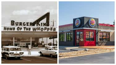 Burger King, 1950s Vs. 2018 is listed (or ranked) 1 on the list Here's What Popular Fast Food Chains Looked Like When They Debuted