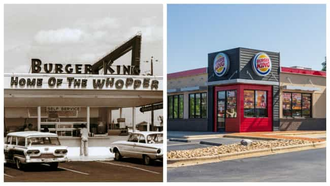 Burger King is listed (or ranked) 1 on the list Here's What Popular Fast Food Chains Looked Like When They Debuted