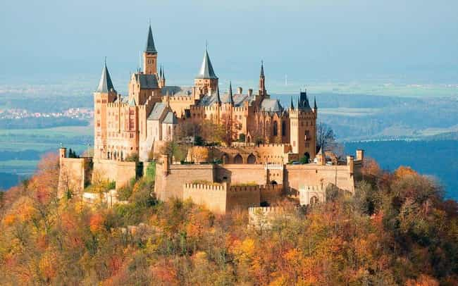 Hohenzollern Castle is listed (or ranked) 2 on the list The Most Beautiful Castles in the World
