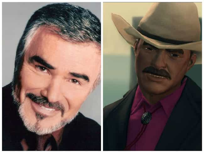 Burt Reynolds is listed (or ranked) 4 on the list Celebrities Who Appeared In Video Games