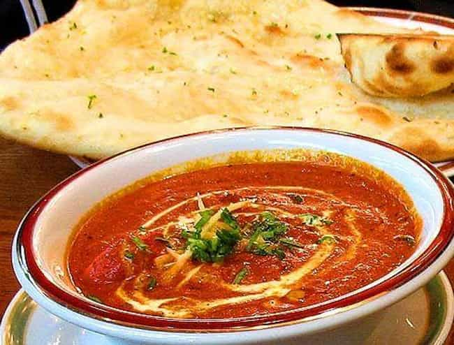 Butter chicken is listed (or ranked) 4 on the list Foods That Are Totally Different In The United States