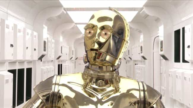 C-3PO is listed (or ranked) 3 on the list 'Star Wars' Droids, Ranked By How Useful They'd Be In Real Life
