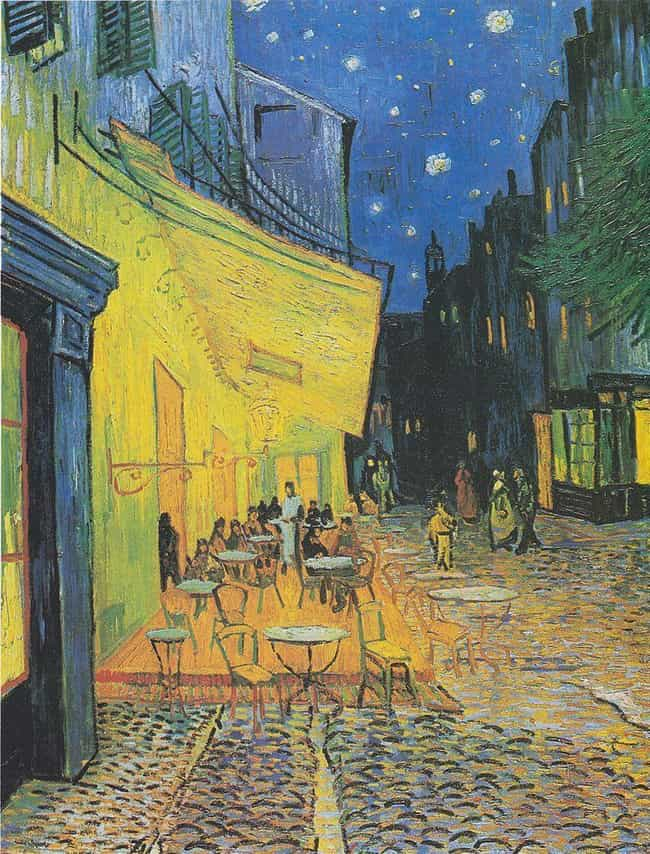 Cafe Terrace at Night is listed (or ranked) 3 on the list 13 Conspiracy Theories About Famous Paintings