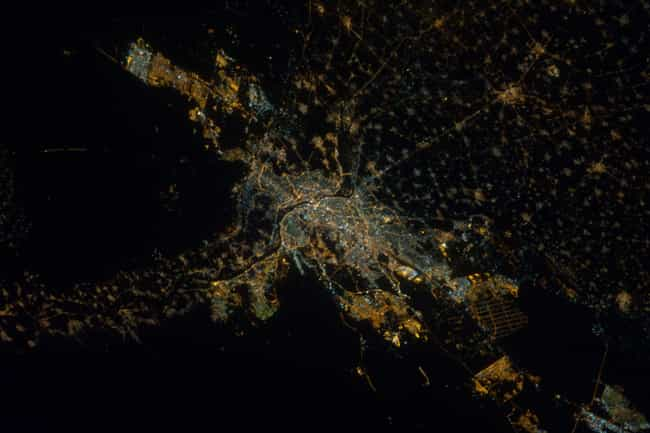 Cairo is listed (or ranked) 7 on the list Cool Aerial Photos of Cities at Night