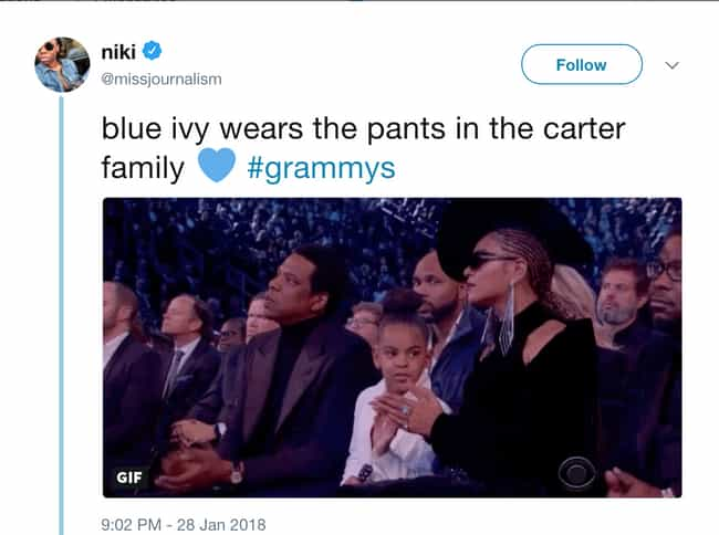 Blue Ivy Carter is listed (or ranked) 8 on the list Celebrities Who Broke the Internet in 2018