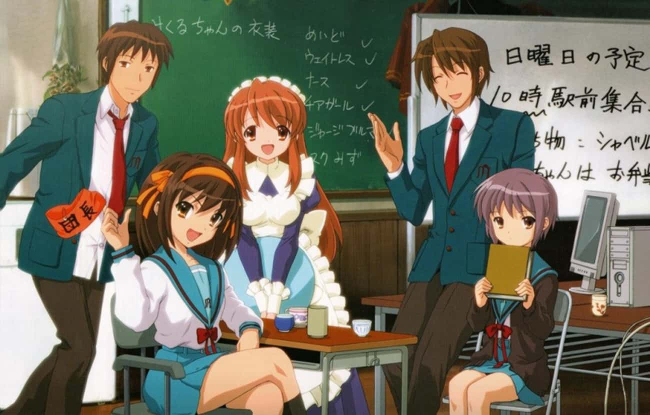 The Melancholy of Haruhi Suzum is listed (or ranked) 3 on the list 16 Overrated Anime That Get Way More Credit Than They Deserve