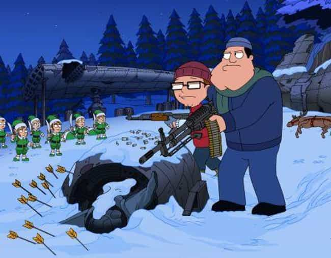 For Whom the Sleigh Bell Tolls is listed (or ranked) 1 on the list The Best Christmas Episodes On 'American Dad!'