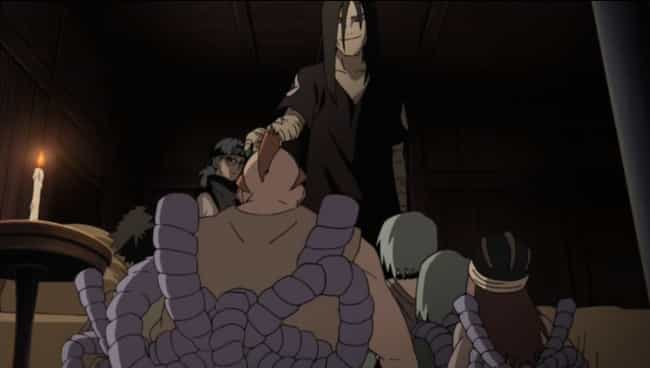 Orochimaru is listed (or ranked) 4 on the list The 15 Most Horrible Bosses In Anime