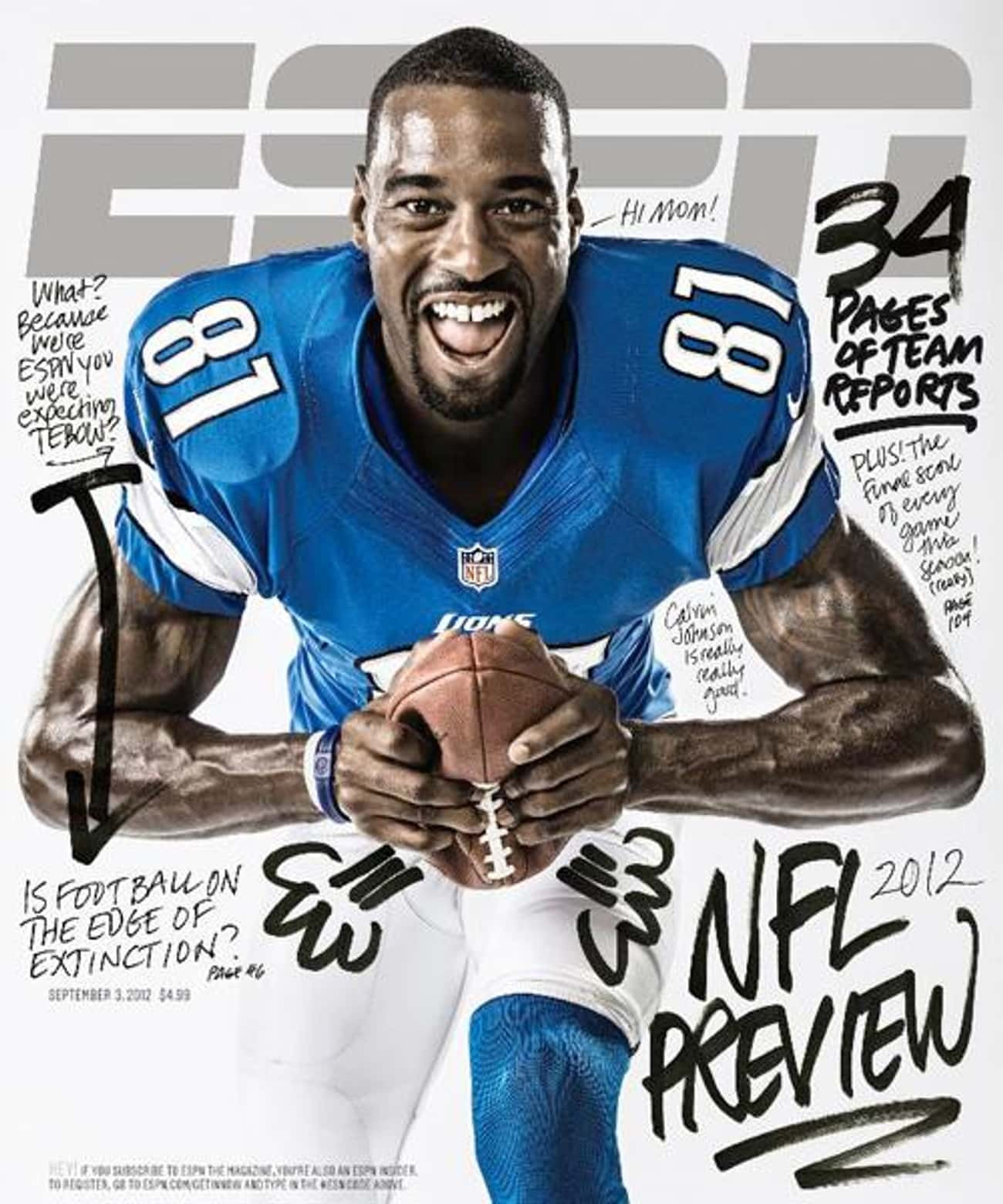 Calvin Johnson is listed (or ranked) 3 on the list The Best ESPN Magazine Covers