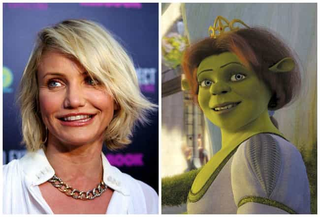 Cameron Diaz is listed (or ranked) 4 on the list 20 Famous People Who Voiced Cartoon Characters