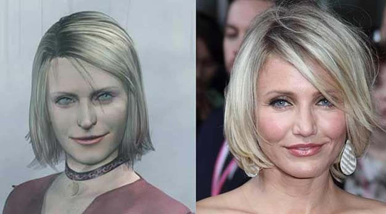 Cameron Diaz and Marie (Silent is listed (or ranked) 4 on the list 26 Celebrities Who Look Just Like Video Game Characters