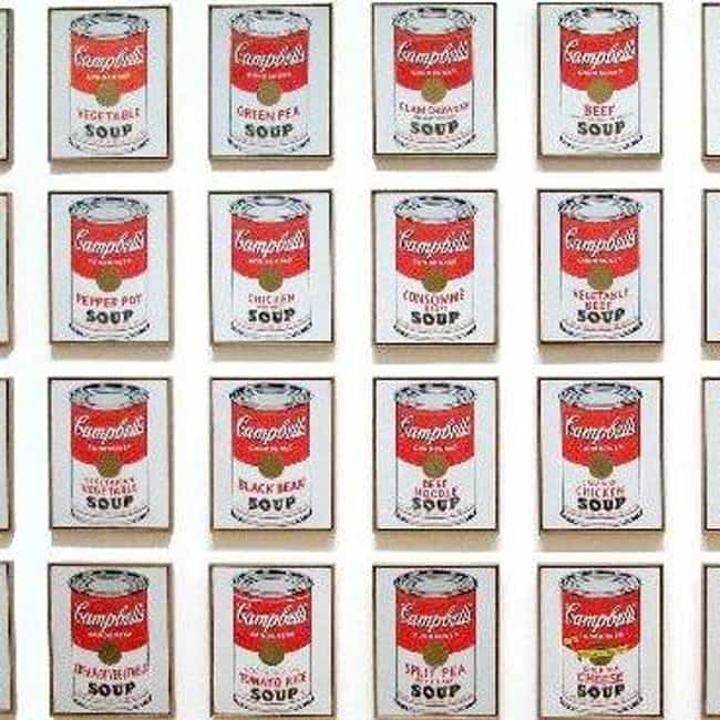 Campbell's Soup Cans is listed (or ranked) 3 on the list Famous Pop Art Artwork