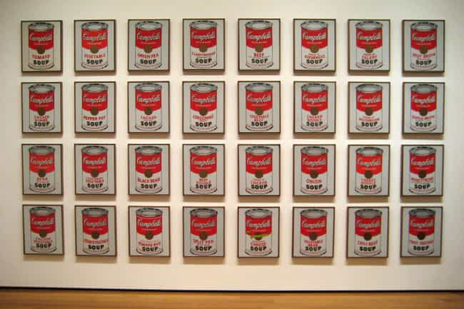 Campbell's Soup Cans is listed (or ranked) 1 on the list The Most Overrated Paintings of All Time
