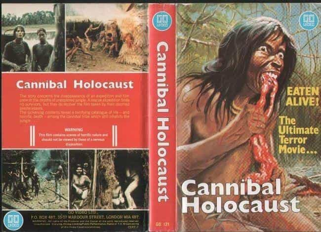 Cannibal Holocaust is listed (or ranked) 1 on the list Relive The Brutally Grotesque '80s VHS Covers That Got The UK Government All In A Tizzy