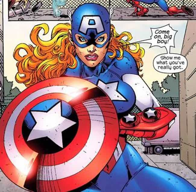 Captain America is listed (or ranked) 4 on the list Superheroes with Children