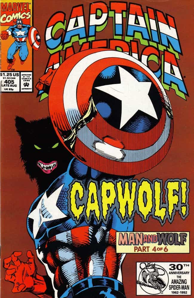 Captain America is listed (or ranked) 1 on the list 10 Comic Book Characters Who Have Turned Into Werewolves
