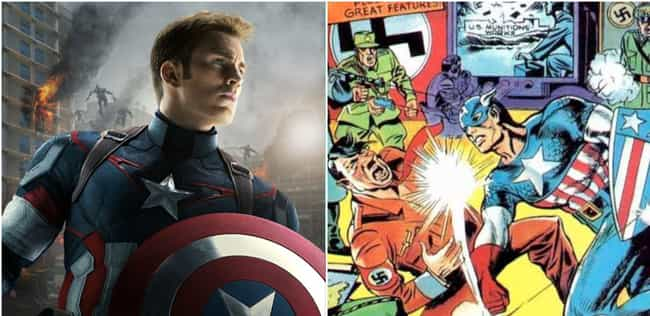 Captain America is listed (or ranked) 1 on the list Your Favorite Marvel Movie Characters, Ranked By How Old Their Comics Are