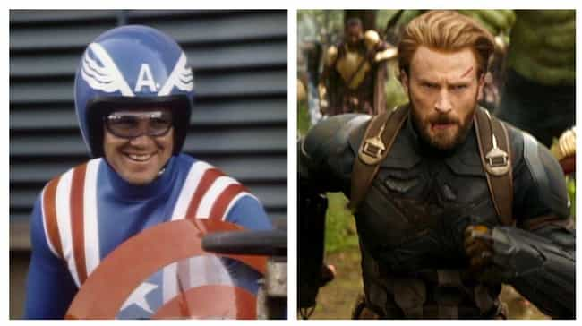 Captain America is listed (or ranked) 1 on the list The Best Superhero Evolution on Film