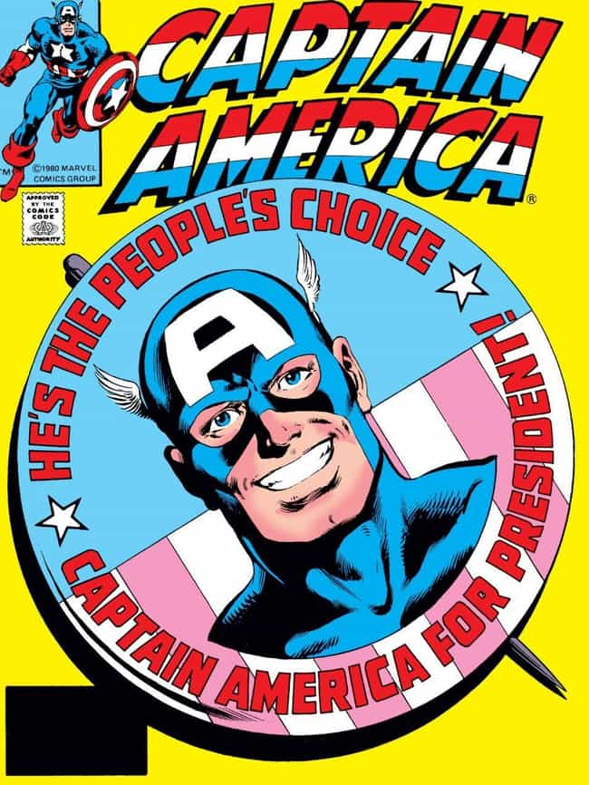 Captain America is listed (or ranked) 4 on the list A Surprising Amount Of Marvel Characters Have Run For Political Office
