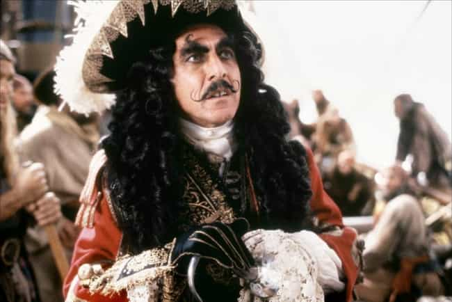Captain Hook is listed (or ranked) 4 on the list The Best Mustaches in Film
