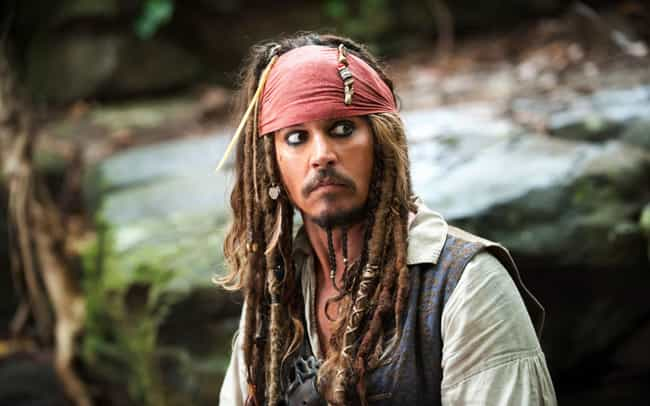 Captain Jack Sparrow is listed (or ranked) 1 on the list Johnny Depp's Weirdest Hairstyles, Ranked