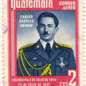 Carlos Castillo Armas is listed (or ranked) 1 on the list Famous People From Guatemala