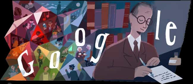 Carlos Drummond de Andrade is listed (or ranked) 1223 on the list Every Person Who Has Been Immortalized in a Google Doodle