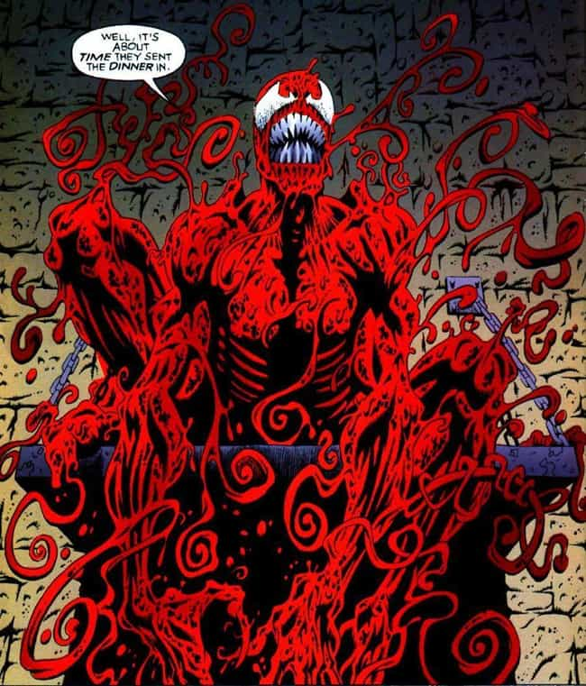 Carnage is listed (or ranked) 2 on the list The Spookiest Villains in Comics