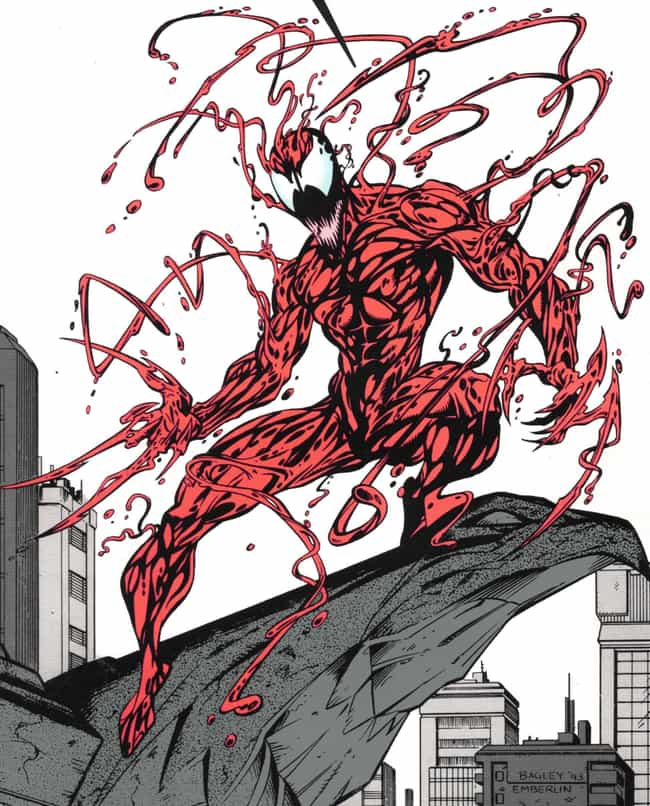 Carnage is listed (or ranked) 2 on the list The Most X-TREME '90s Comic Book Characters