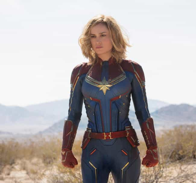 Captain Marvel (Carol Da... is listed (or ranked) 4 on the list Which MCU Hero Would Win In An All-Out Battle?