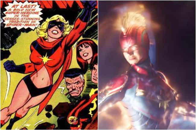 Captain Marvel (Carol Danvers) is listed (or ranked) 8 on the list Marvel Characters Whose Comic Book Origin Stories Are Way More Upsetting Than The Movies Portrayed