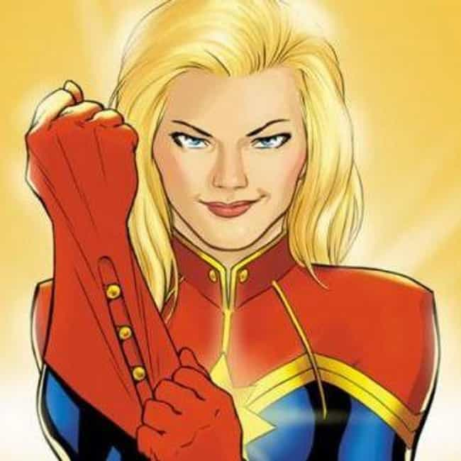 Captain Marvel (Carol Danvers) is listed (or ranked) 4 on the list The Best Comic Book Characters Who Have Blue Eyes
