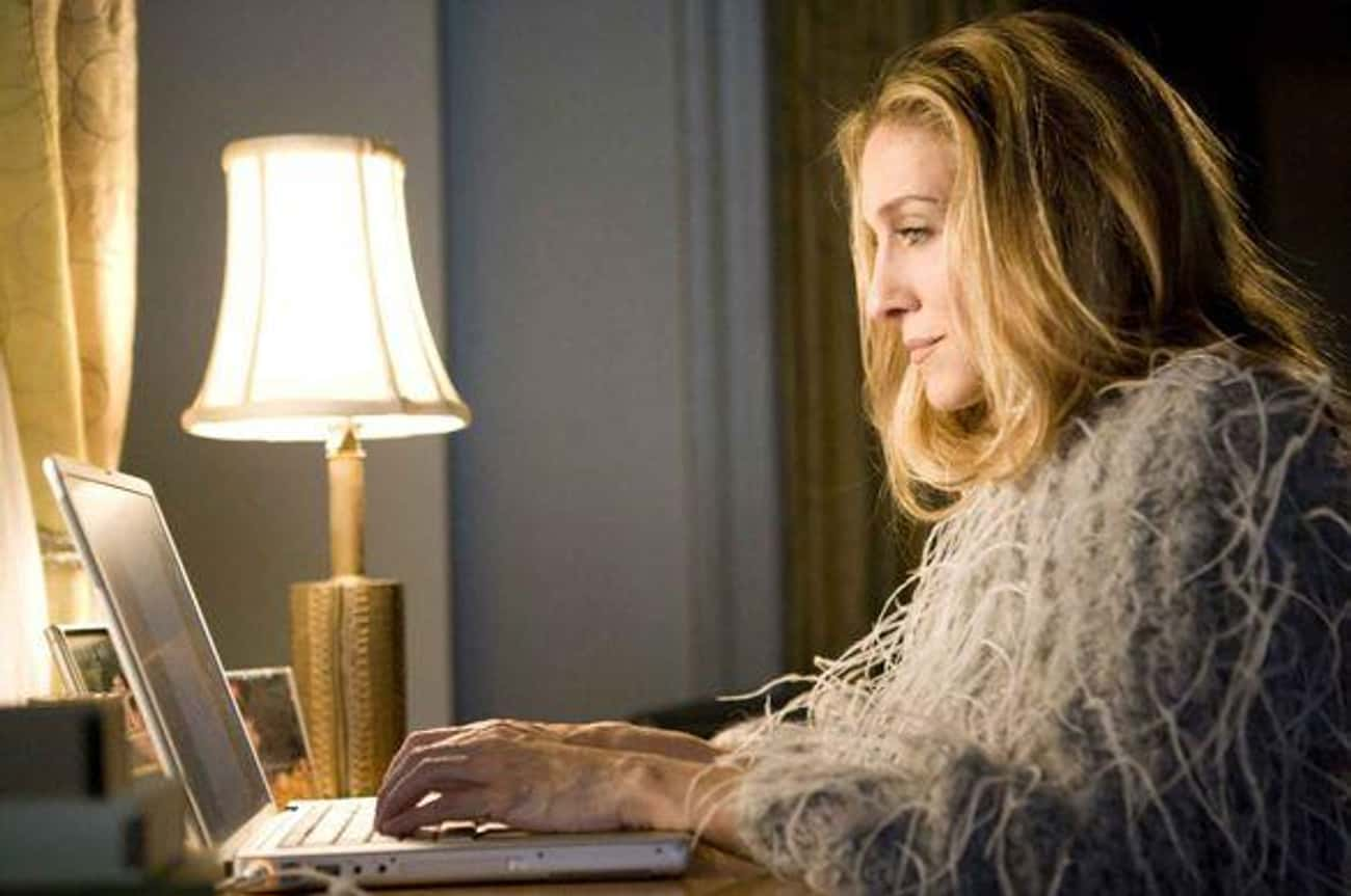 Carrie Bradshaw is listed (or ranked) 3 on the list 18 Fictional Writers Who Are Obviously Terrible At Writing