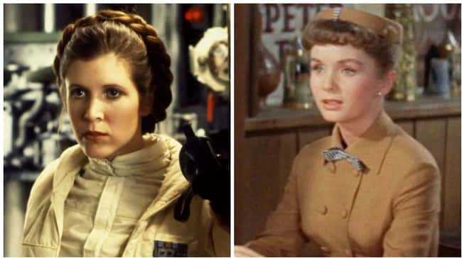 Carrie Fisher is listed (or ranked) 15 on the list 18 Photos Of Celebrities And Their Famous Parents At The Same Age