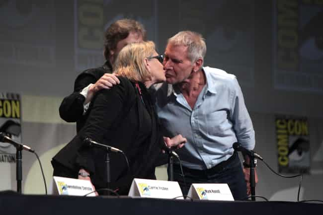 Carrie Fisher is listed (or ranked) 4 on the list The Complete Dating History Of Hollywood Ladies' Man Harrison Ford
