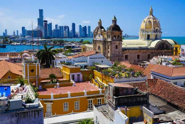 Cartagena is listed (or ranked) 4 on the list The Most Beautiful Cities in South America