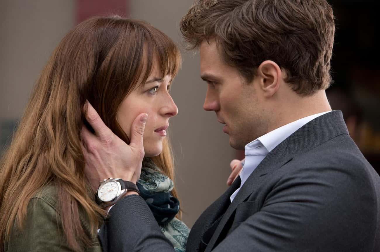 "Jamie Dornan And Dakota Johnson In ""Fifty Shades Of Grey"""