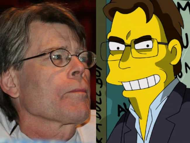 Stephen King is listed (or ranked) 2 on the list Horror Icons Who Guest Starred On 'The Simpsons'