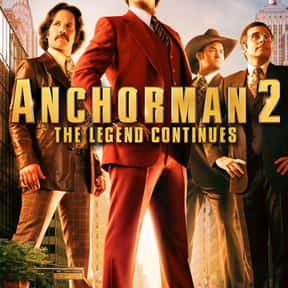 Anchorman 2: The Legend Contin is listed (or ranked) 25 on the list The Most Overrated Movies of All Time