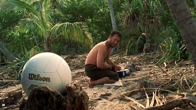 Cast Away is listed (or ranked) 2 on the list Great Movies That Have Almost No Dialogue
