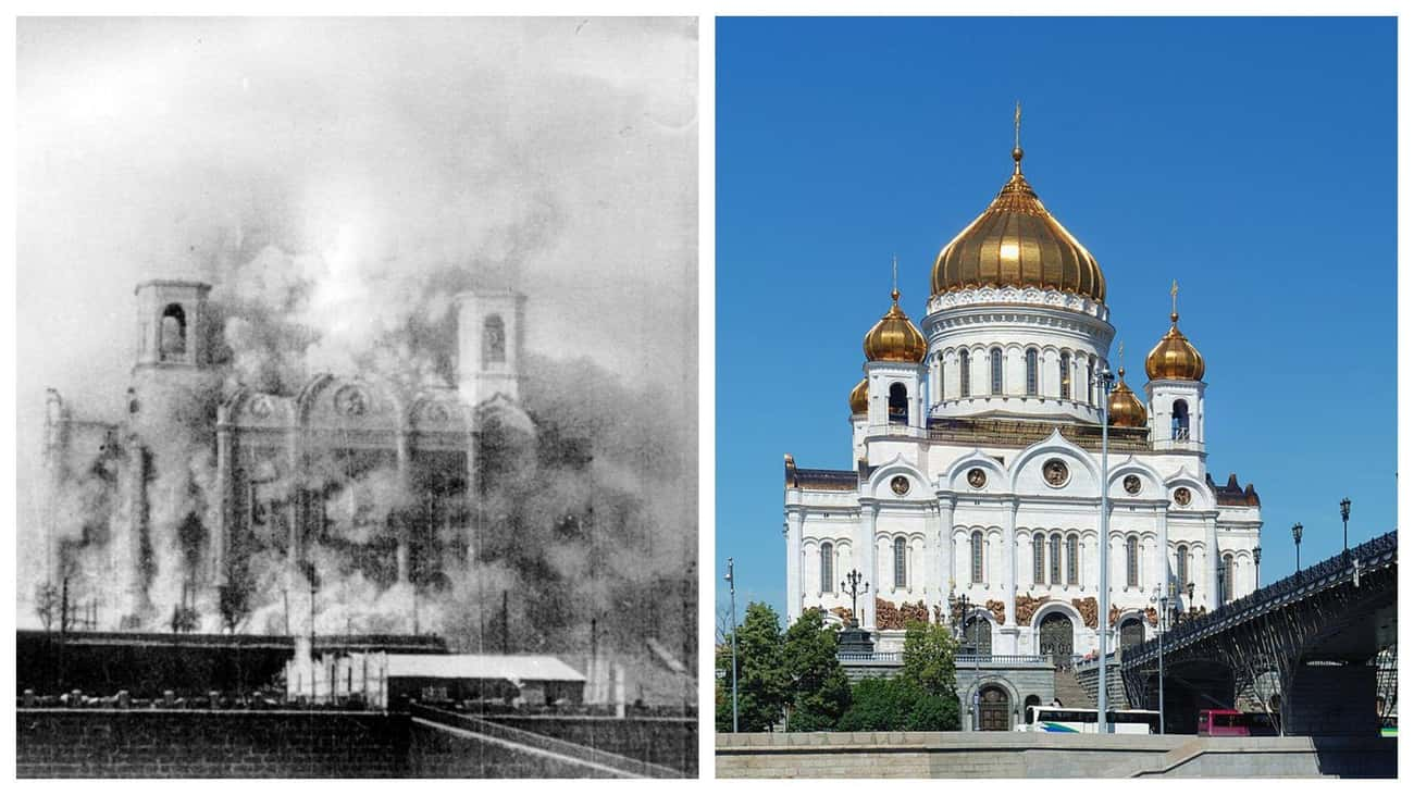Cathedral of Christ the Savior is listed (or ranked) 2 on the list FamousBuildings That WereRebuilt