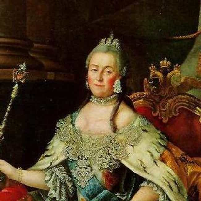 Catherine II of Russia is listed (or ranked) 4 on the list Famous Female Monarchs