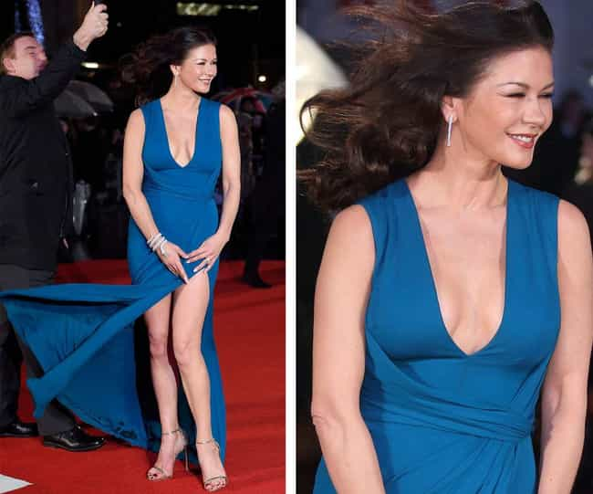Catherine Zeta-Jones is listed (or ranked) 4 on the list The Most Embarrassing Celeb Wardrobe Malfunctions of 2016