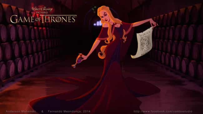 Cersei Lannister is listed (or ranked) 3 on the list These Fans Drew Your Favorite Game Of Thrones Characters As Disney Cartoons
