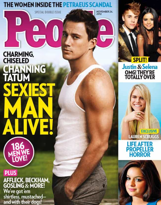 Channing Tatum is listed (or ranked) 7 on the list Every Cover of People's Sexiest Man Alive Issue, Ever