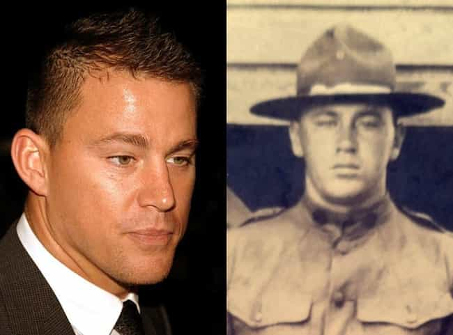 Channing Tatum is listed (or ranked) 7 on the list 48 Celebrities Who Look Exactly Like People From History