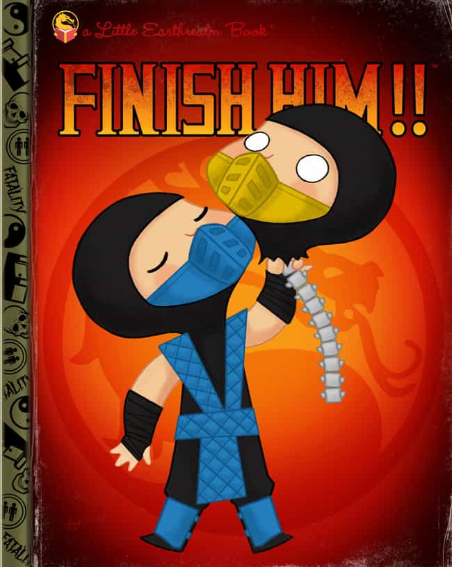 Mortal Kombat is listed (or ranked) 3 on the list 18 Video Games Turned Into Adorable Children's Book Covers