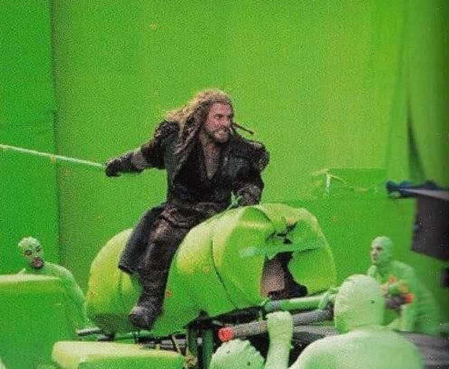 The Hobbit trilogy is listed (or ranked) 3 on the list 15 Hilarious Photos Of Actors Pretending To Interact With CGI